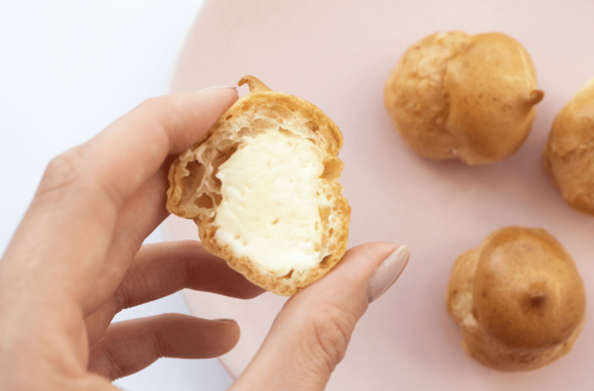 Profiteroles Filling Can Be Custard, Pastry Cream, Whipped Cream or Ice Cream