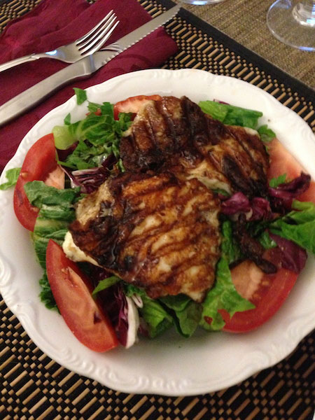 Food Travelist Grilled Haloumi Salad