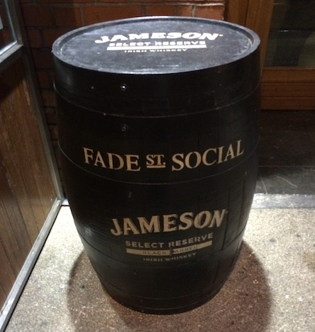 Food Travelist Fade St Social Dublin Welcome By Jameson