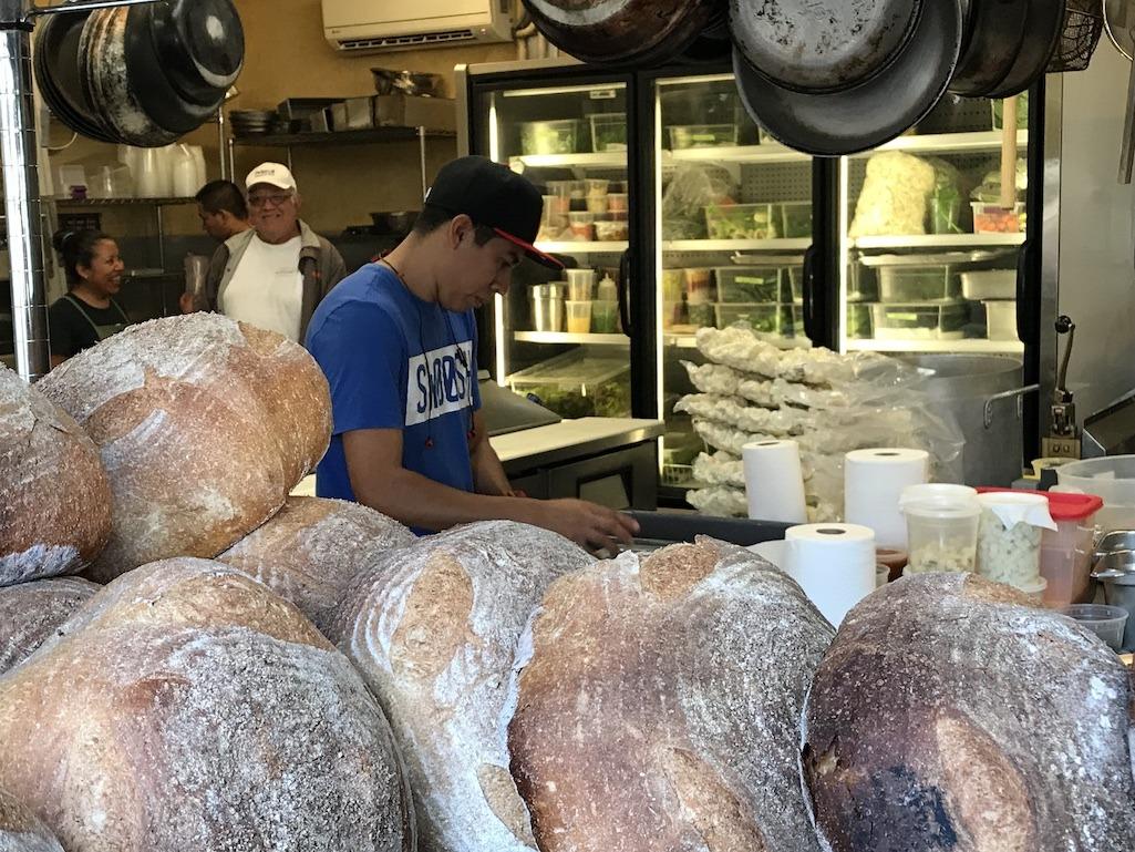 Bread making at Flora Farms Los Cabos