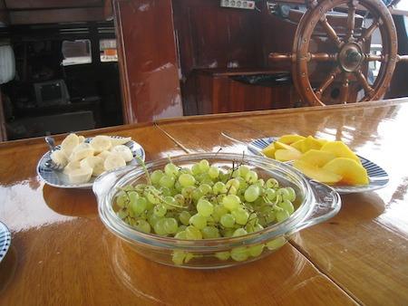 Food Travelist Boating In Bodrum Fresh Fruit
