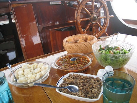 Food Travelist Boating In Bodrum Fresh Salad and Vegetables