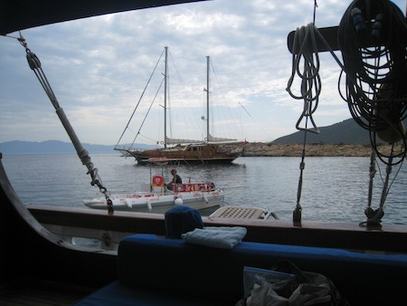 Food Travelist Boating In Bodrum Ice Cream Boat
