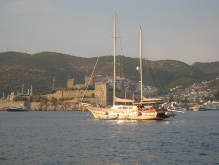 Food Travelist Boating In Bodrum The Castle