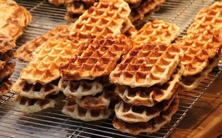 Food Travelist Brussels Belgium Liege Waffle Stacks