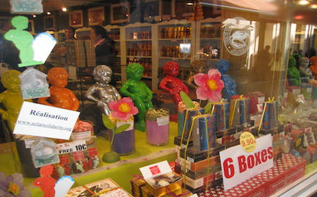 Food Travelist Brussels Belgium Colorful Manneken-Pis Candy