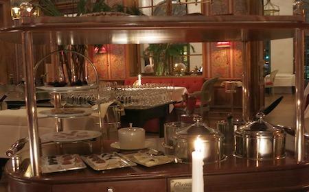 Food Travelist Francais Restaurant Frankfurt Germany Christoffle Trolley