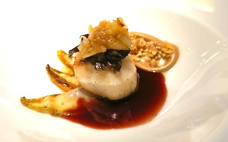 Food Travelist Francais Restaurant Frankfurt Germany Scallop with Truffle