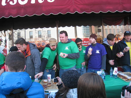 Eating Contest at Bennison's Bakery in Evanston, IL