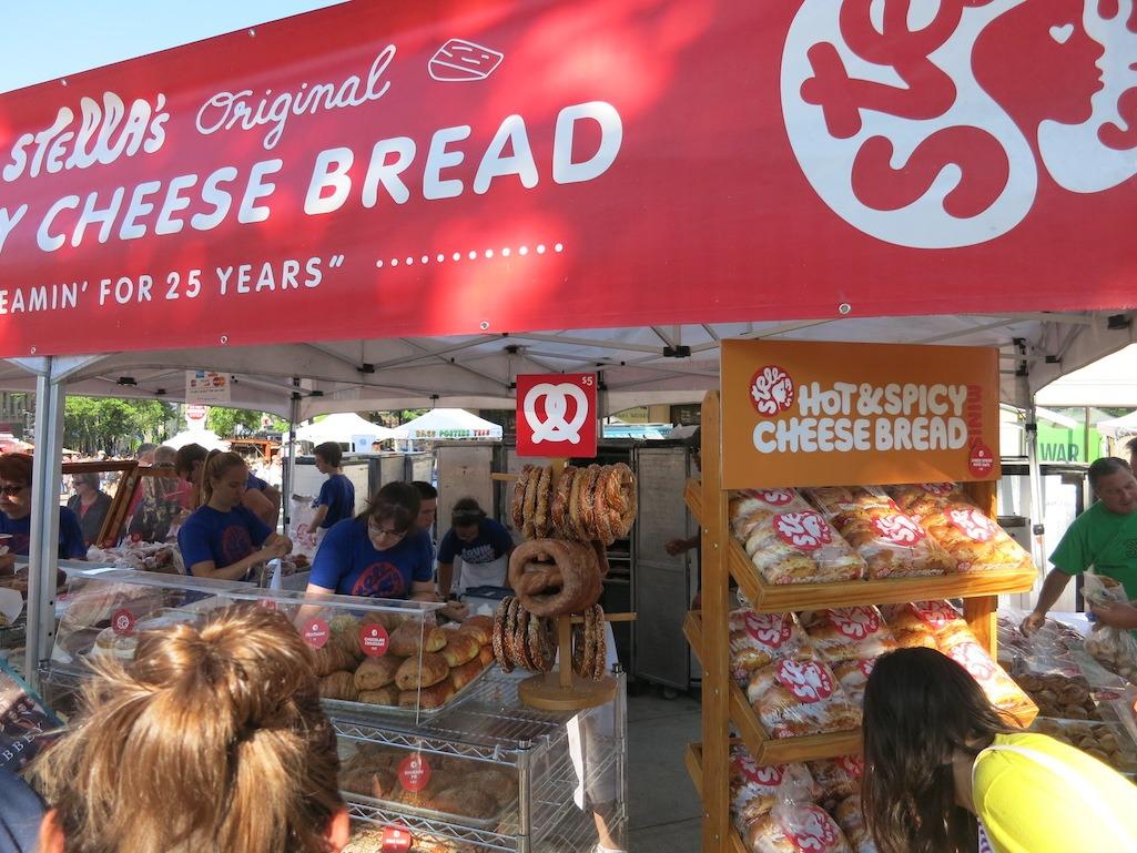 Stellas Spicy Cheese Bread Dane County Market Food Travelist