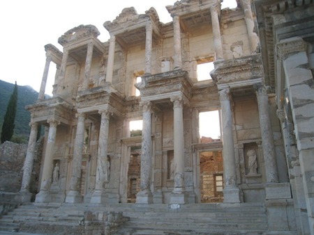 Food Travelist Celsus Library in Ephesus
