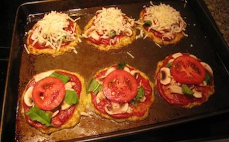 Food Travelist Crispy Cauliflower Crust Mini Pizzas