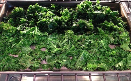 Food Travelist Kale Chips Cooking In The Oven