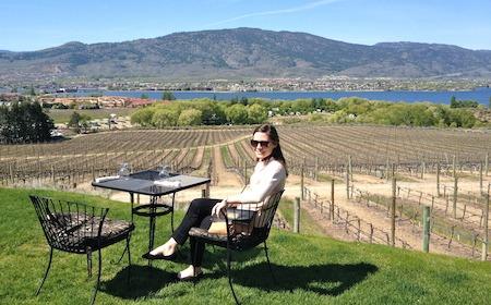 Food Travelist Lesley Quinn Enjoying Lunch in the Okanagen Valley Canada