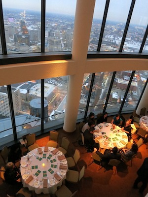 Spectacular views from the Coach Insignia a top the GM Renaissance Center