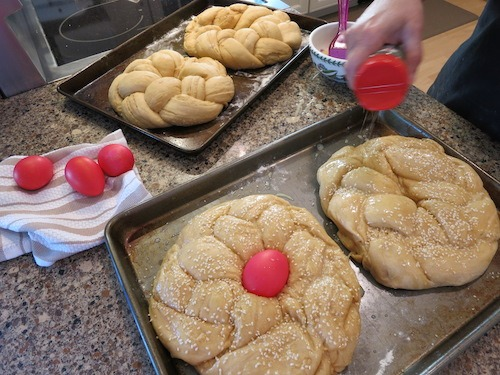 Greek Easter Bread Prepartion