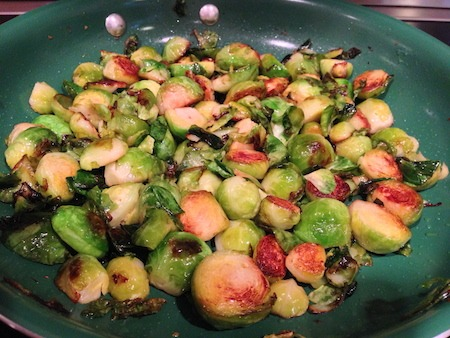 Food Travelist Sauteed Brussels Sprouts