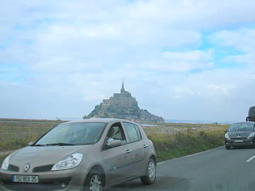 Road To Mont Saint Michele France