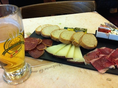 Tapas and Beer in Spain