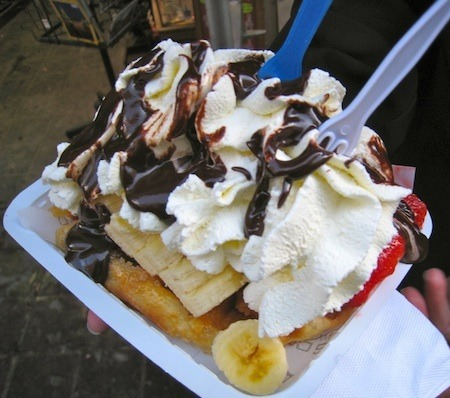 Street Food Around The World Belgium Waffles in Brussels