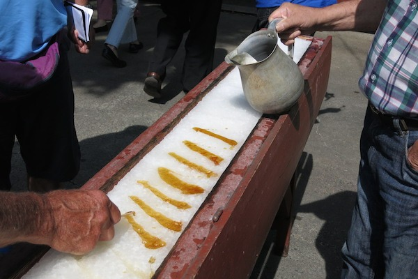 Sweets - Maple Snow in Canada