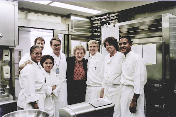 Julia Child with the White House Kitchen Team