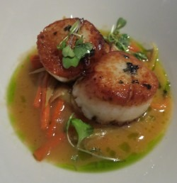Scallops from Aerie Restaurant