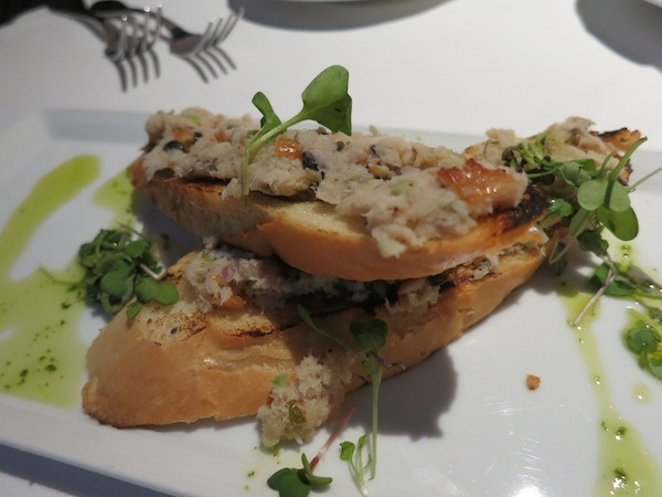 Smoked Trout Crostini from Aerie Restaurant in Grand Traverse Resort & Spa