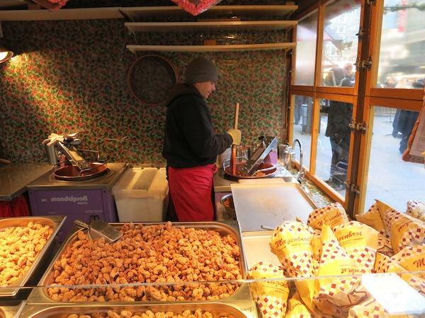 Roasting Nuts At Christkindlmarket Chicago
