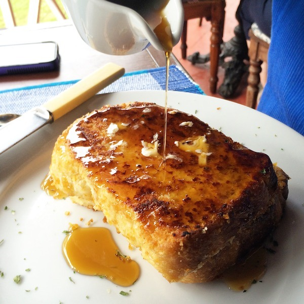 Tasty Coconut French Toast at the Hermitage Plantation