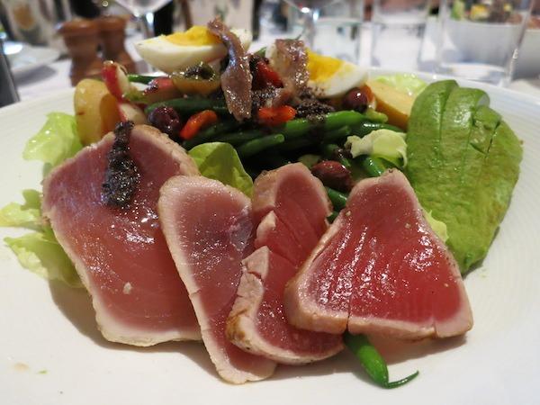 Salad Nicoise at Left Bank Brasserie in San Jose