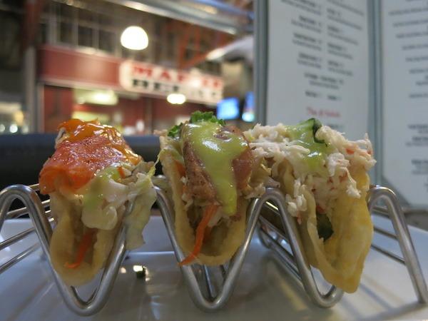 Sushi Tacos from Blush Raw Bar At San Pedro Square Market
