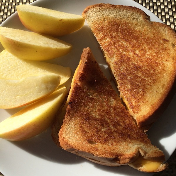 Ambrosia Apples and Grilled Cheese