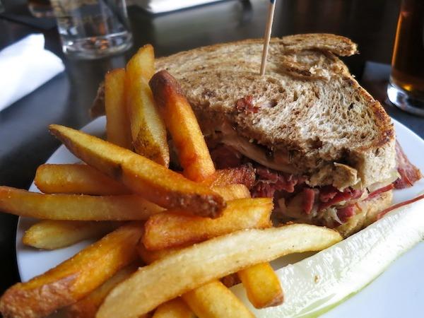 Classic Reuben Sandwich on Marble Rye