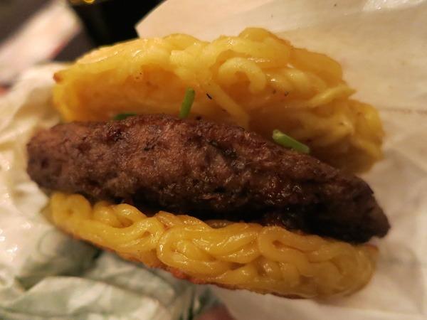 Asian Food Ramen Burger