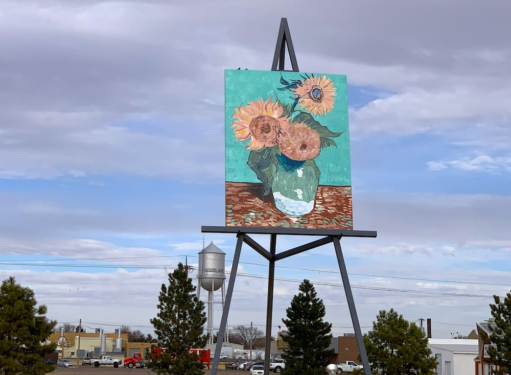 Goodland Kansas Giant Painting on Easel