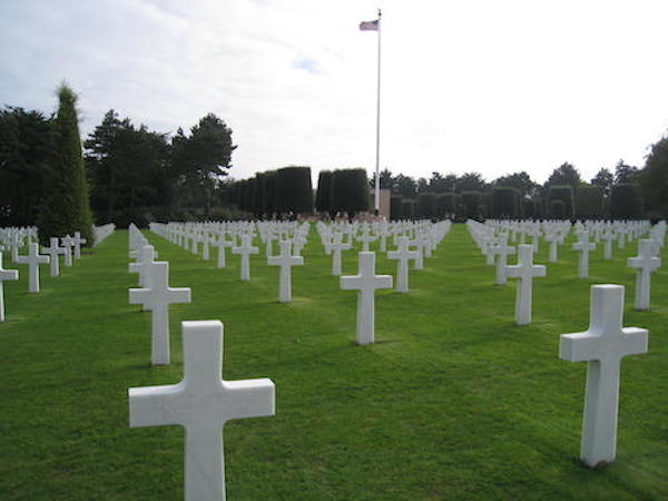 The American Cemetery in Normandy, France. Memorial Day 2020