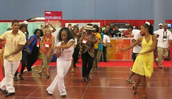 Dancing At Life At 50 AARP National Event in Miami