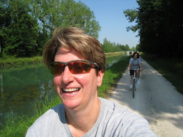 The Food Travelists cycling through Burgundy.