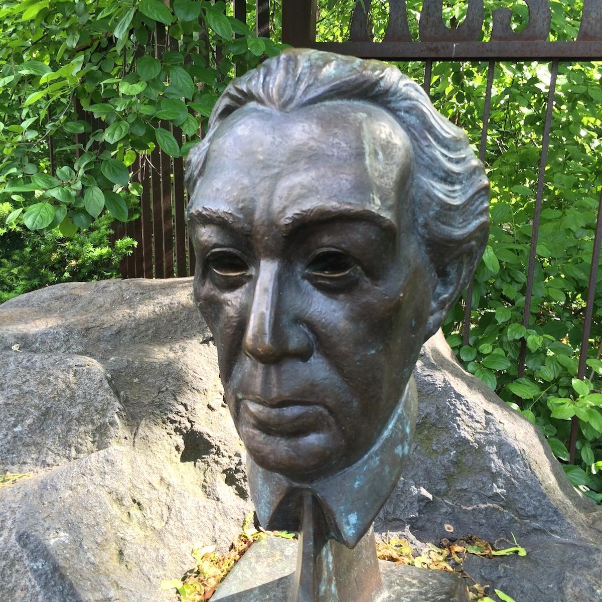 Frank Lloyd Wright Sculpture in Austin Garden Oak Park