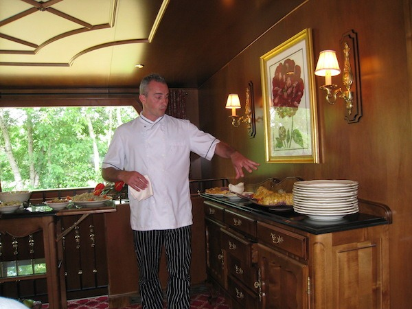 Chef Cyril always presented wonderful creations.