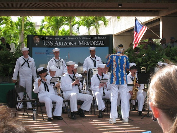 Military Band At Pearl Harbor. Memorial Day 2020