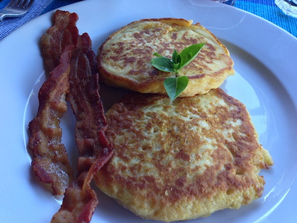 Coconut pancakes at the Hermitage Plantation in Nevis