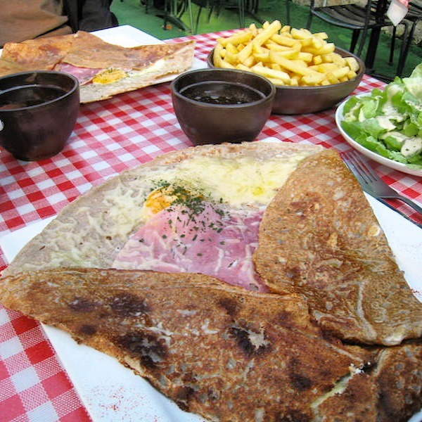 Ham and cheese galette in Normandy Best Breakfast Around the world