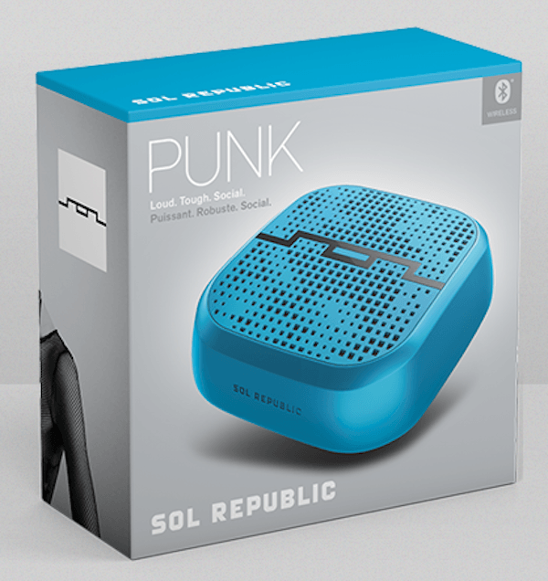 Sol Republic Punk Wireless Bluetooth Speaker Last Minute Gifts for Dad