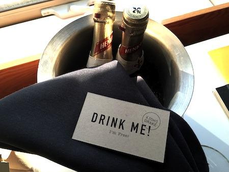 Free champagne Drake Hotel Toronto