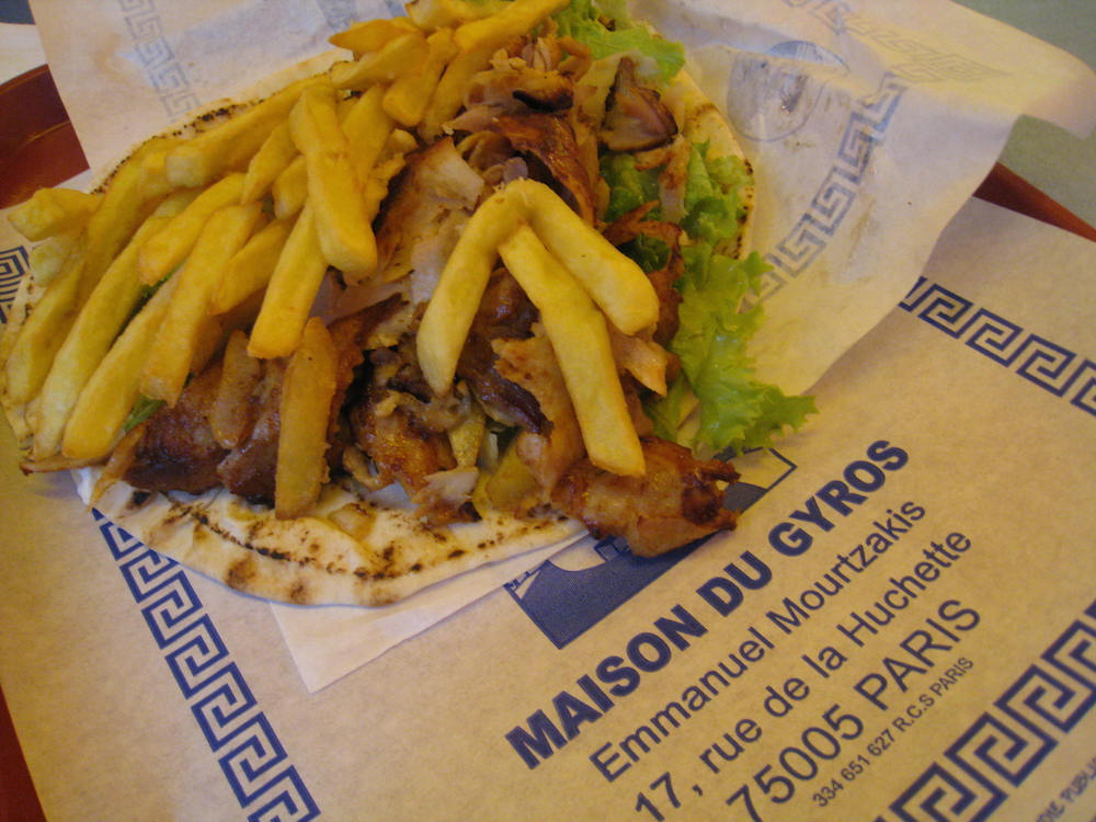 Extra Pita Greek Gyros in The Latin Quarter In Paris Food Travelist 10 Things You Must Do in Paris