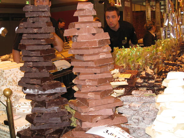 Mountain of famous chocolate