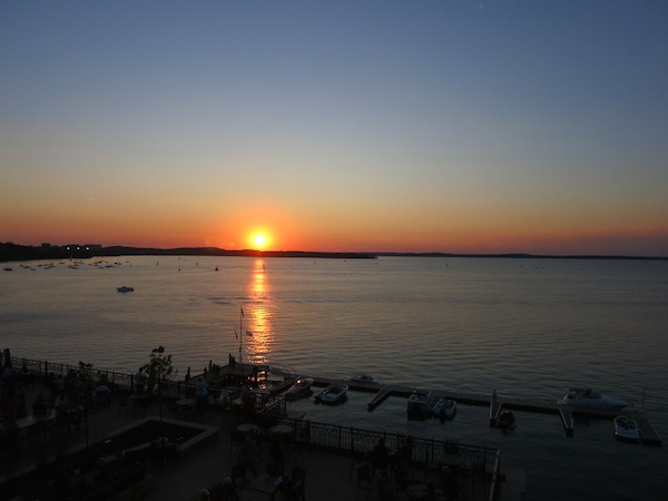 Sunset at The Edgewater Hotel in Madison wisconsin Food Travelist Food Travel