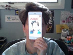 iPhone 6s Plus it is as big as my head.